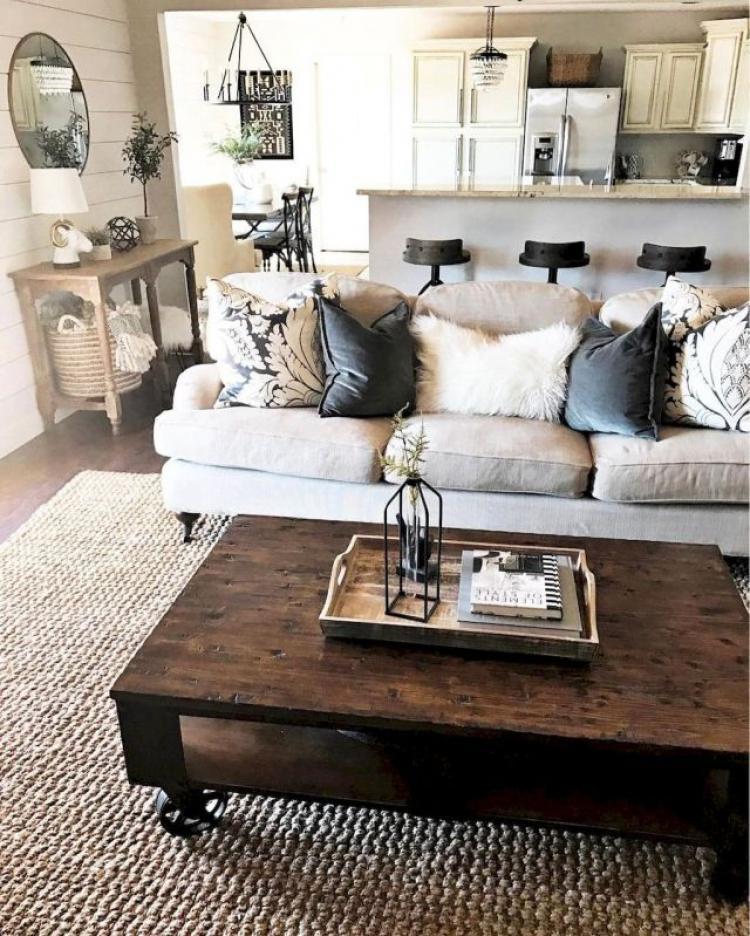 Modern Farmhouse Living Room Decor Ideas 37: 55+ Modern Farmhouse Living Room Decor Ideas